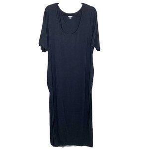 Old Navy Maternity Maxi Dress Size 2XL Solid Black